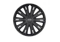4-Delige Wieldoppenset Giga 16-inch mat zwart