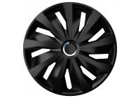 4-Delige Wieldoppenset Grip Pro 14-inch zwart