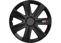 4-Delige Wieldoppenset GTX Carbon Black 15 inch