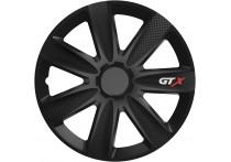 4-Delige Wieldoppenset GTX Carbon Black 16 inch