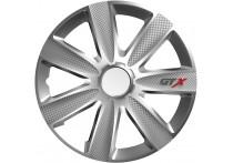 4-Delige Wieldoppenset GTX Carbon Silver 15 inch