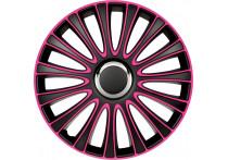 4-Delige Wieldoppenset LeMans 17-inch zwart/roze