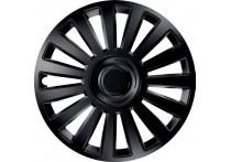 4-Delige Wieldoppenset Luxury Black 16 Inch