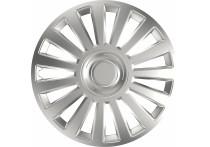 4-Delige Wieldoppenset Luxury Silver 15 Inch
