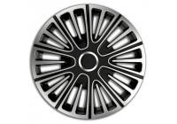 4-Delige Wieldoppenset Motion 14-inch zilver/zwart