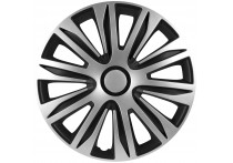 4-Delige Wieldoppenset Nardo 15-inch zilver/zwart
