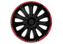 4-Delige Wieldoppenset Nero R 13-inch zwart/rood