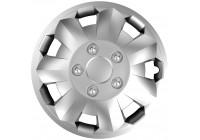 4-Delige Wieldoppenset Nova NC Silver 15 inch