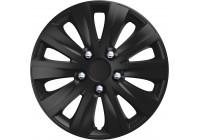 4-Delige Wieldoppenset rapide NC Black 16 inch