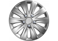 4-Delige Wieldoppenset rapide NC Silver 15 inch