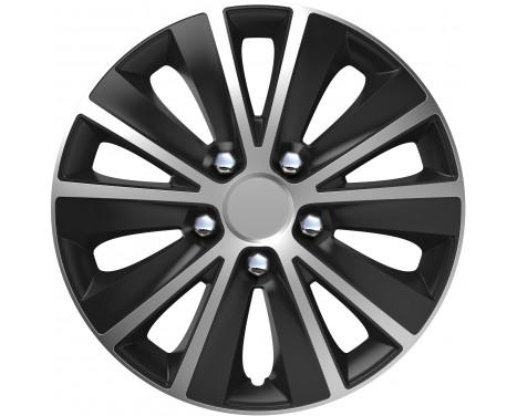 4-Delige Wieldoppenset Rapide NC   Silver&Black 14 inch