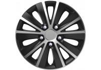 4-Delige Wieldoppenset Rapide NC   Silver&Black 16 inch