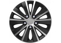 4-Delige Wieldoppenset Rapide NC   Silver&Black 13 inch