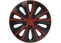 4-Delige Wieldoppenset Rapide Red&Black 13 inch