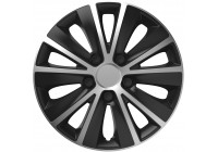 4-Delige Wieldoppenset Rapide   Silver&Black 16 inch