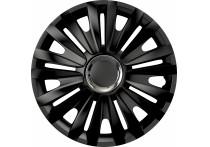 4-Delige Wieldoppenset Royal RC Black 15 inch