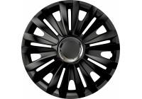 4-Delige Wieldoppenset Royal RC Black 16 inch