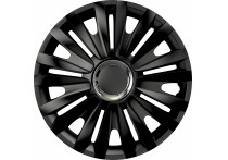 4-Delige Wieldoppenset Royal RC Black 16 inch