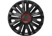 4-Delige Wieldoppenset Royal Red  Ring Black 16 inch