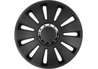 4-Delige Wieldoppenset Silverstone Pro zwart 17-inch