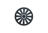 4-Delige Wieldoppenset Spyder 17-inch zwart + chroom ring
