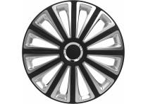 4-Delige Wieldoppenset Trend RC   Black&Silver 13 inch