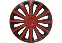 4-Delige Wieldoppenset Trend Red&Black 13 inch