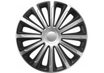 4-Delige Wieldoppenset Trend  Silver&Black 16 inch