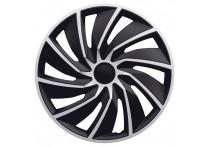 4-Delige Wieldoppenset Turbo Van 17-inch zilver/zwart (bol)