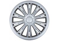 4-Delige G3 wieldoppenset Bologna 13 inch zilver