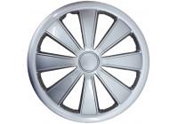 4-Delige G3 wieldoppenset Rimini 13 inch zilver