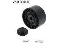 Poulie renvoi/transmission, courroie trapézoïdale à nervures VKM 33100 SKF