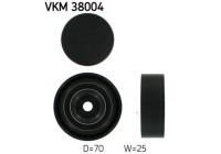 Poulie renvoi/transmission, courroie trapézoïdale à nervures VKM 38004 SKF