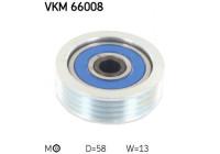 Poulie-tendeur, courroie trapézoïdale à nervures VKM 66008 SKF
