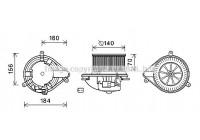 Moteur électrique, pulseur d'air habitacle RT8572 Ava Quality Cooling