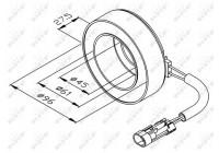 Bobine, compresseur-embrayage magnétique