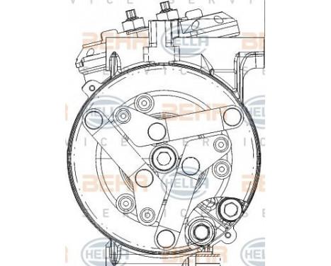 Compresseur, climatisation BEHR HELLA SERVICE *** PREMIUM LINE ***, Image 11