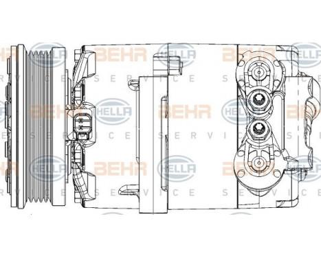 Compresseur, climatisation BEHR HELLA SERVICE *** PREMIUM LINE ***, Image 13