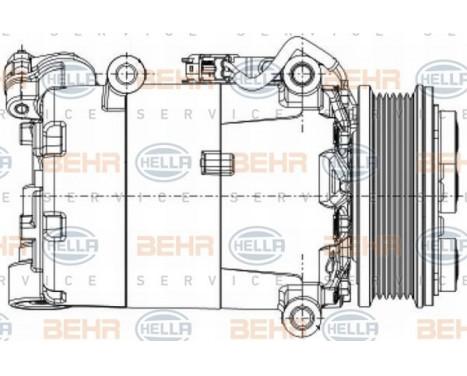 Compresseur, climatisation BEHR HELLA SERVICE *** PREMIUM LINE ***, Image 10