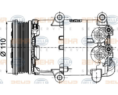 Compresseur, climatisation BEHR HELLA SERVICE *** PREMIUM LINE ***, Image 3