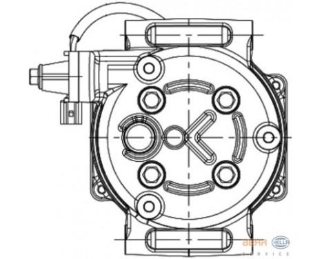 Compresseur, climatisation BEHR HELLA SERVICE *** PREMIUM LINE ***, Image 2