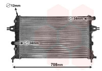 Radiateur, refroidissement du moteur 37002254 International Radiators