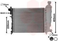 Radiateur, refroidissement du moteur *** IR PLUS *** 09002115 International Radiators Plus