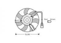 Ventilateur, refroidissement du moteur 0315747 International Radiators