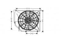 Ventilateur, refroidissement du moteur 0646746 International Radiators