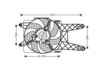 Ventilateur, refroidissement du moteur 1601746 International Radiators