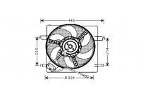 Ventilateur, refroidissement du moteur 1865746 International Radiators
