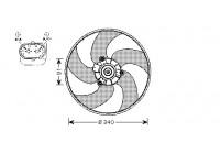 Ventilateur, refroidissement du moteur 4028745 International Radiators