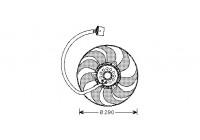 Ventilateur, refroidissement du moteur 5888745 International Radiators