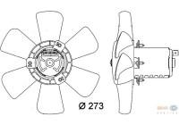 Ventilateur, refroidissement du moteur 8EW 009 144-401 Behr Hella